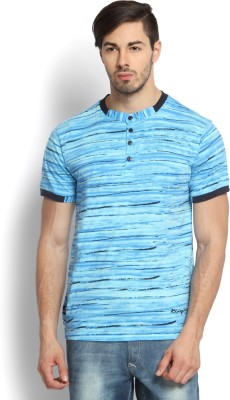 Kingaroo Striped Men's Henley Multicolor T-Shirt
