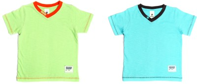 Bio Kid Printed Boy's V-neck Multicolor T-Shirt