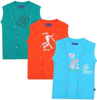 SPN Garments Printed Girl,s Round Neck Green, Orange, Blue T-Shirt