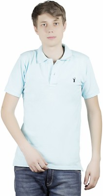 Clive Rogers Solid Men's Polo Light Blue T-Shirt