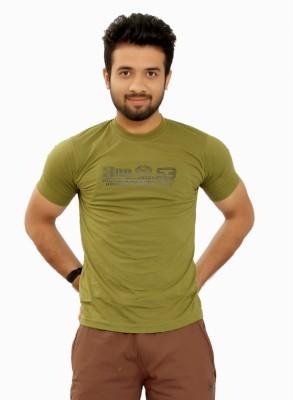 MountainColours Solid Men's V-neck Green T-Shirt