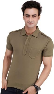 Monteil & Munero Solid Men's Polo Green T-Shirt