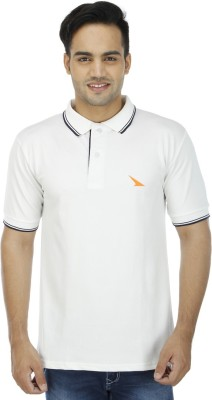 PRO Lapes Solid Men's Polo Neck White T-Shirt