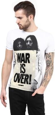 PUNK Printed Men,s Round Neck White T-Shirt