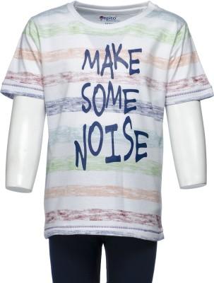 Pepito Printed Boy's Round Neck Multicolor T-Shirt