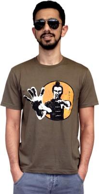 Contraband Graphic Print Men's Round Neck Dark Green T-Shirt