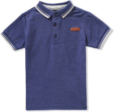 Ben Sherman Solid Boy's Polo Blue T-Shirt