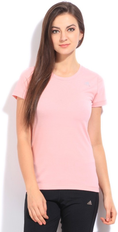 adidas Solid Women's Round Neck T-Shirt