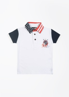 Status Quo Cubs Solid Boy's Polo White T-Shirt