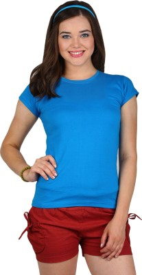 SayItLoud Solid Women's Round Neck T-Shirt