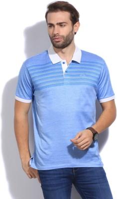 Arrow Sport Printed Men's Polo Blue T-Shirt