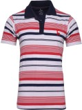 IND Classic Striped Men's Polo Neck Red,...