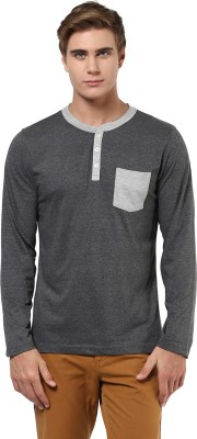 Aventura Outfitters Solid Men,s Polo Neck Grey T-Shirt