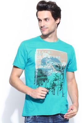 IZOD Printed Men's Round Neck Blue T-Shirt