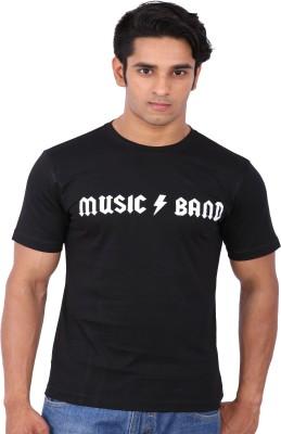 Rat Trap Printed Men's Round Neck Black T-Shirt