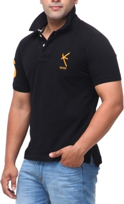 Yross Solid Men's Polo Neck Multicolor T-Shirt