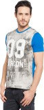 Garcon Printed Men's Round Neck Blue T-S...