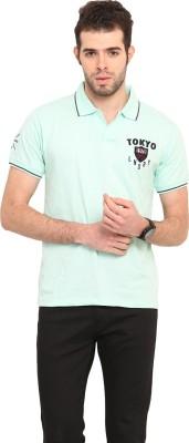 Mode Vetements Solid Men's Polo Blue T-Shirt