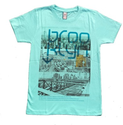 Victor & Rolf Graphic Print Men's Round Neck Light Blue T-Shirt