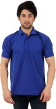 Zeki Solid Men's Polo Neck Blue T-Shirt