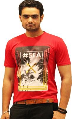 GOPAL EMPORIUM Printed Men's Round Neck Red T-Shirt