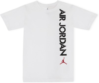 Jordan Graphic Print Boy's Round Neck White T-Shirt