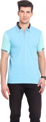 Smokestack Solid Men's Polo Light Blue T-Shirt