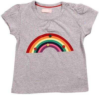 JusCubs Solid Baby Girl's Round Neck T-Shirt