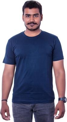 Colours99 Solid Men,s, Boy's Round Neck Dark Blue T-Shirt