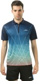 Stag Printed Men's Polo Neck Blue, Blue ...