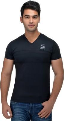 Surly Printed Men's V-neck Black T-Shirt