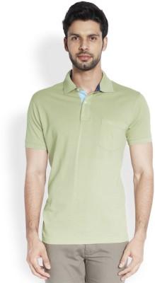 ColorPlus Solid Men's Polo Neck Light Green T-Shirt