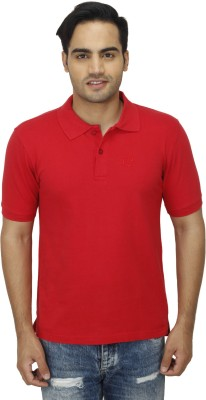 Zista Solid Men's Polo Red T-Shirt