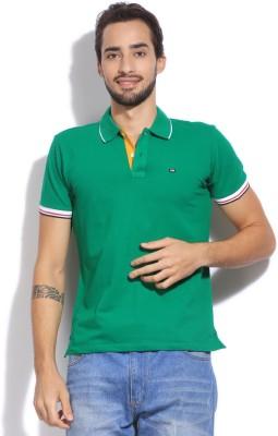 Arrow Sport Solid Men's Polo Green T-Shirt