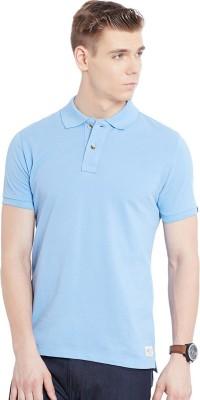 Jogur Solid Men's Polo Blue T-Shirt