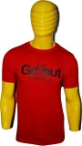 Kavin Printed Men's Round Neck Red T-Shi...