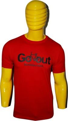 Kavin Printed Men's Round Neck Red T-Shirt