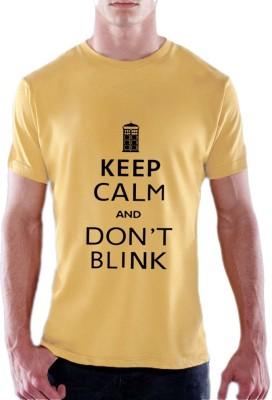 13th Avenue Graphic Print Men's Round Neck Yellow T-Shirt