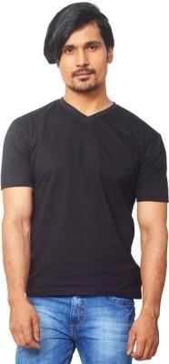 Thor Solid Men's V-neck Black T-Shirt