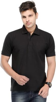 Kiosha Solid Men's Polo Black T-Shirt