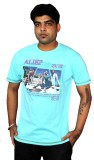 AS42 Solid Men's Round Neck Light Blue T...