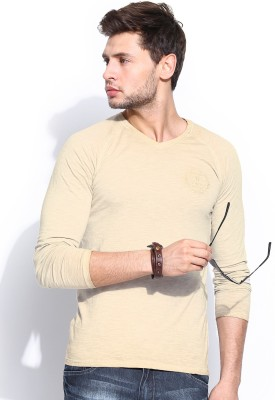 Roadster Solid Men's V-neck T-Shirt