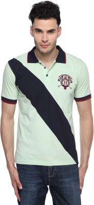 Swing9 Printed Men's Polo Neck Light Green, Dark Blue T-Shirt