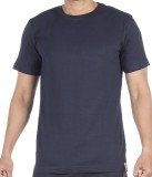 Vip Solid Men's Round Neck Blue T-Shirt