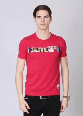 Duke Stardust Printed Men's Round Neck Pink T-Shirt