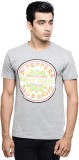 Beatles Printed Men's Round Neck Grey T-...