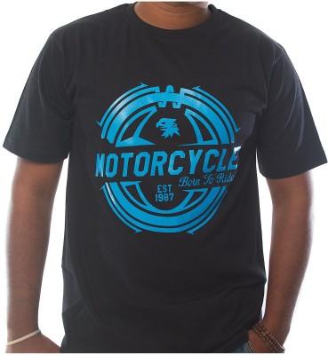 CodeNine Printed Men,s Round Neck Black T-Shirt