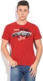 Izod Printed Men's Round Neck Red T-Shir...