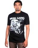 Bikergang Printed Men's Round Neck Black...