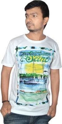 Vsquared Graphic Print Men's Round Neck Reversible T-Shirt